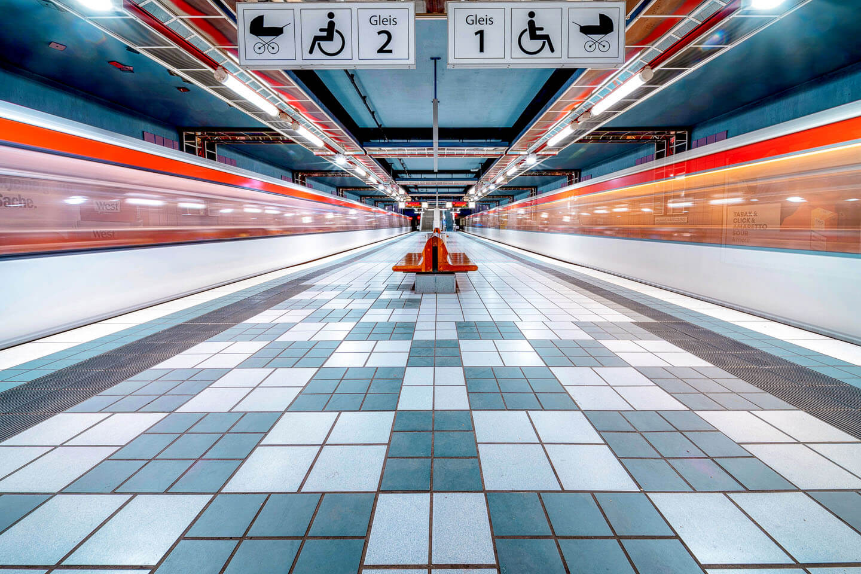 Der U-Bahnhof Mümmelmannsberg im Hamburger Stadtteil Billstedt