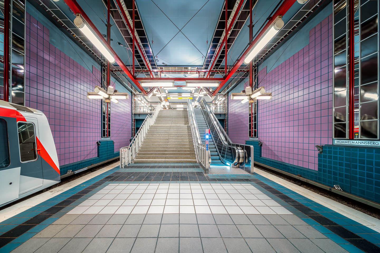 Architekturfotografie: U-Bahnhof Mümmelmannsberg