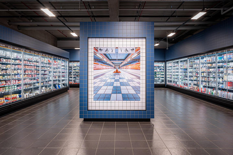 Industriefotografie im Edekamarkt Woelm in Hamburg. Foto: Florian Läufer