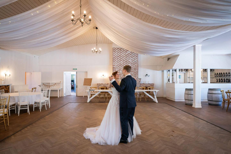 Tanzsaal im landhaus Westerhof. Das Foto machte der Hochzeitsfotograf Florian Läufer.
