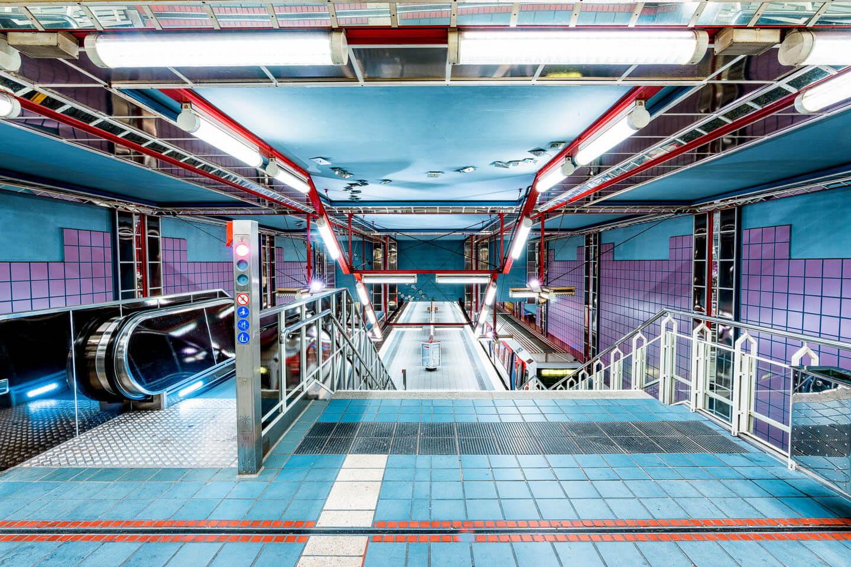 Industriefotografie im Hamburger U-Bahnhof