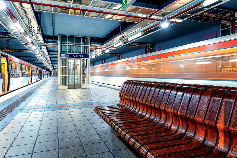 Industriefotografie im U Bahnhof Mümmelmannsberg in Hamburg
