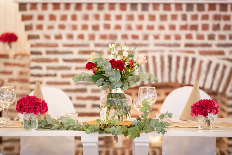 Tischdeko Brauttisch