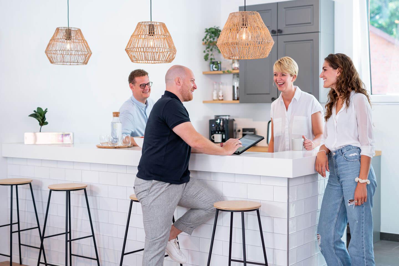 Immobilienmakler Business-Fotografie im Head Office